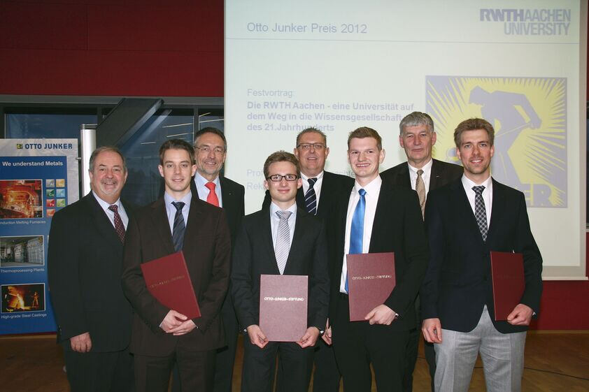 Awarding of 2012 Otto Junker awards