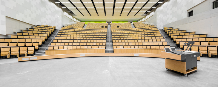 Panorama of a modern lecture hall